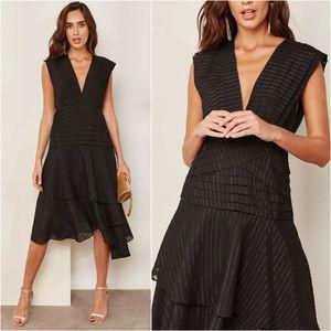 Keepsake The Label Black Waterfall Ruffle Dress